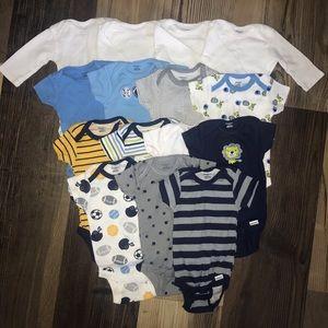Lot of 15 baby boy onesies